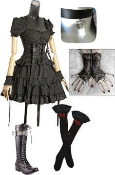"""""""Punk/ Gothic stuff"""" by evanescencerules on Polyvore"""