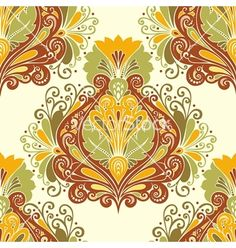 Seamless ornate pattern vector by Krivoruchko on VectorStock®