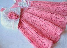 cotton thread crochet baby patterns   Crocheting: Crochet Dress - Harvest Baby Thread