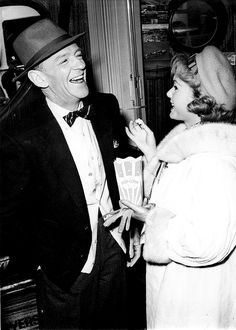 Fred Astaire and Debbie Reynolds on the set of The Pleasure of His Company (1961)