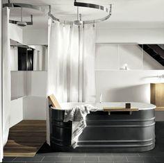 Low Budget Bathroom Can Look Modern Galvanized Bathtubpainting Steelbudget
