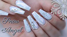 Holiday Nail Art, Christmas Nail Art, Engagement Nails, Winter Nails 2019, Secret Nails, Angel Nails, Nails 2018, Snow Angels, Tips & Tricks