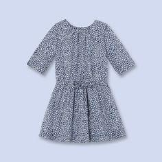 34798ae95230 Robe en popeline imprimée BLEU MULTICO Fille - Vêtement Enfant - Jacadi  Paris Liste De