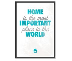 Home  13x19 print   BLUE by theinksociety on Etsy, $16.95