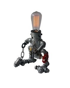 Imbuing any space with industrial magic by adding this industrial style pipe lamp in your workspace.