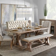 Oak Extending Dining Table, Dining Table With Bench, Dinning Room Tables, Modern Dining Table, Extendable Dining Table, Round Dining Table, Dining Room Furniture, Furniture Decor, Dining Table Decor Everyday