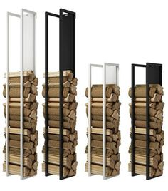 This elegant and practical RAIS Woodwall Firewood Holder is the perfect indoor storage solution for your woodburning fire or stove. Available in black or white from Robey's in Derbyshire.