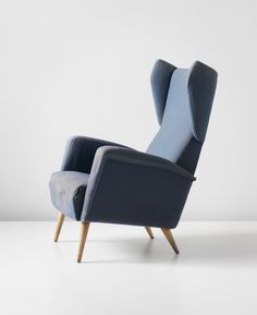 Gio Ponti; Walnut Frame Armchair for the Royal Hotel by Dassi, 1956.
