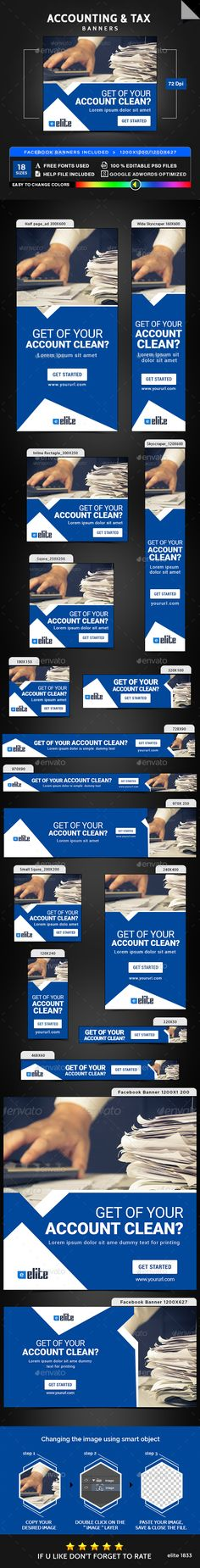 Accounting bookkeeping flyers by kinzi21 on creative market accounting tax banners banners ads web elements fandeluxe Images