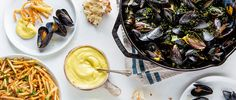 Learn to make classic moules frites (steamed mussels with fries) with aioli.