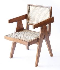 Office Cane Chair by Pierre Jeanneret 2