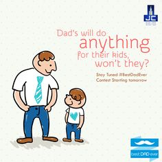 Dad's will do anything for their kids, won't they? Stay Tuned ‪#‎BestDadEver‬ Contest Starting tomorrow. ‪#‎HappyFathersday‬