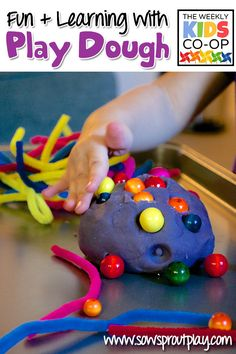 8 Fun and Learning Activities with Play Dough from The Weekly Kids Co-Op!