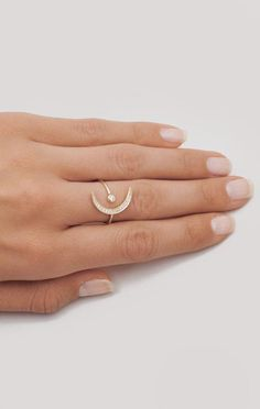 Planet Blue NEW MOON RING