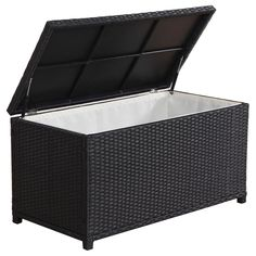 Stash your outdoor cushions safely in this durable storage box by BroyerK. The box frame features quality aluminum and UV-resistant PE rattan construction ...  sc 1 st  Pinterest & 36 best Wicker Outdoor Storage Box images on Pinterest | Outdoor ...