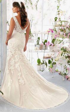 c74ad76613c12 Amazing plus size mermaid wedding dress Country Wedding Dresses