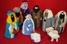 Nativity Set Christmas Knitted Nativity Set by BritanniaHouse