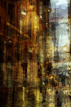 Rain by Alessio Trerotoli on Blur Photography, Photography Ideas, Circus Art, Multiple Exposure, Beautiful Places To Travel, Abstract Photos, Optical Illusions, Fantasy Art, Urban