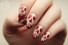 OMG these nails!!! Flails and Nails: Snow White Poison Apple Nail Art
