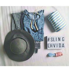 Foto linda da @adanifaz  Sling Listradinho de azul lindo de viver ;)