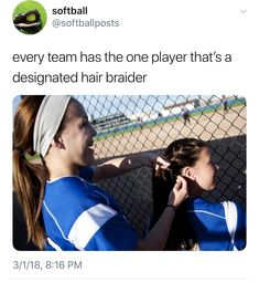 she also puts red stripes on our faces and writes our number on our arm Funny Softball Quotes, Volleyball Memes, Basketball Quotes, Girls Softball, Softball Players, Fastpitch Softball, Softball Coach, Softball Stuff, Soccer Jokes