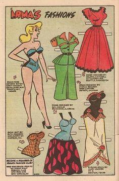 Paper Dolls as Fashion History — browsethestacks: Vintage Comic - Millie The. Newspaper Paper, Old Paper, Comic Book Paper, Comic Books, Family Day Quotes, Millie The Model, Dan Decarlo, Hulk Art, Blue Crafts