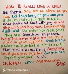 This is how you love a child...