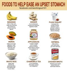 Foods To Help An Upset Stomach