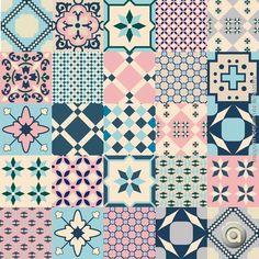 Adesivo de azulejo classicos 01 15X15 Tile Art, Mosaic Tiles, Tiling, Tile Patterns, Textures Patterns, Tile Design, Pattern Design, Decoupage Paper, Islamic Art