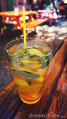 Green ice tea holiday relaxation.