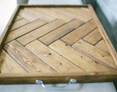 Wood Tray /Rustic Serving Tray / Wood Tray / by TheStationHome