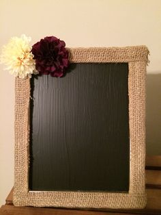 Burlap framed chalkboard, rustic chalkboard, rustic wedding, rustic decor, country wedding, chalkboard sign 8x10 on Etsy, $14.00
