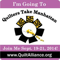 Quilters Take Manhattan Participants Raffle   Will you be attending Quilters Take Manhattan 2014?   Make sure to share with your friends the exciting Aurifil drawing for the attendees of this event orchestrated by the nonprofit Quilt Alliance.  Attendees have the chance to win a Mark Lipinski Ultra Collection Aurifil 48 large spools suitcase of their very own!