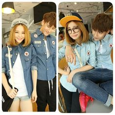 On Wednesday we wear denim. #refinery29 http://www.refinery29.com/2014/10/76710/asian-matching-couples-trend#slide-8