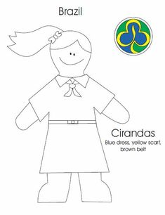 Brazil Ciranda Colouring Sheet
