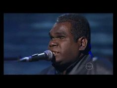 Geoffrey Gurrumul Yunupingu, hauntingly beautiful song in his native tongue, you dont need a translation when the music touches your heart.. Grief have taken...