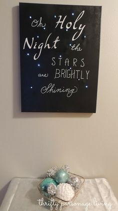 Thrifty Parsonage Living  DIY Oh Holy Night Canvas