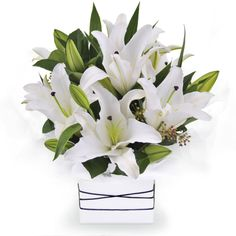 White Oriental - simple, divine and elegant, white oriental lilies.