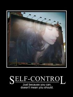 paragraph about self control
