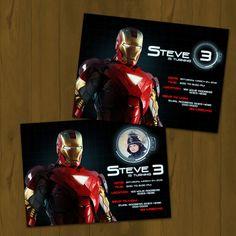 IRON MAN BIRTHDAY invitation  Iron Man by SplashboxPrintables, $10.00