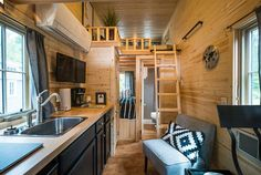 Kitchen and Bedroom Loft - Atticus at Mt. Hood Tiny House Village