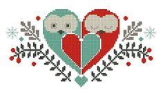 Love owls-Cross stitch pattern pdf format,Instant Download