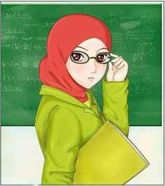 Assalamu alaikum brothers and sisters(peace be to you ) ^_^ the woman in this drawing looks just like my English teacher in high school i mean the style. Ramadan, Teacher Cartoon, My English Teacher, Hijab Drawing, Wallpaper Hp, Teacher Wear, Hijab Cartoon, School Clipart, Woman Drawing