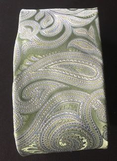2e82881f0fd9 Michael Kors MK Men's Green Blue Paisley 100% SILK Tie New #MichaelKors #Tie