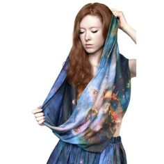 Mystic Mountain Nebula Scarf. #scarf  #fashion 9thelm.com