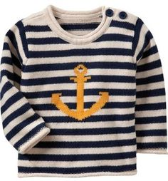 Striped Crew Neck Sweaters for Baby