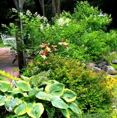 Veranda and front rock garden