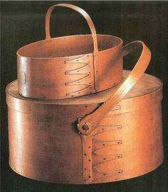 """Shaker Boxes    Back before plastic, people needed a way to store tea, spices and other small items. Bent-wood """"pantry boxes"""" were used for this purpose because they were strong and light."""