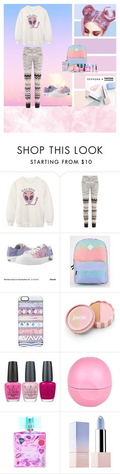 """alien queen*^*"" by natia-22 ❤ liked on Polyvore featuring Sephora Collection, Chicnova Fashion, Missoni, Zipz, Vans, Casetify, jane, OPI, River Island and claire's"