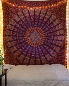 Maroon Room Decor Unique Maroon Dreams Tapestry From Bohemian Tapestry, Bohemian House, Mandala Tapestry, Bohemian Bedrooms, Urban Threads, Tapestry Bedroom, Tapestry Wall Hanging, Wall Hangings, Maroon Room